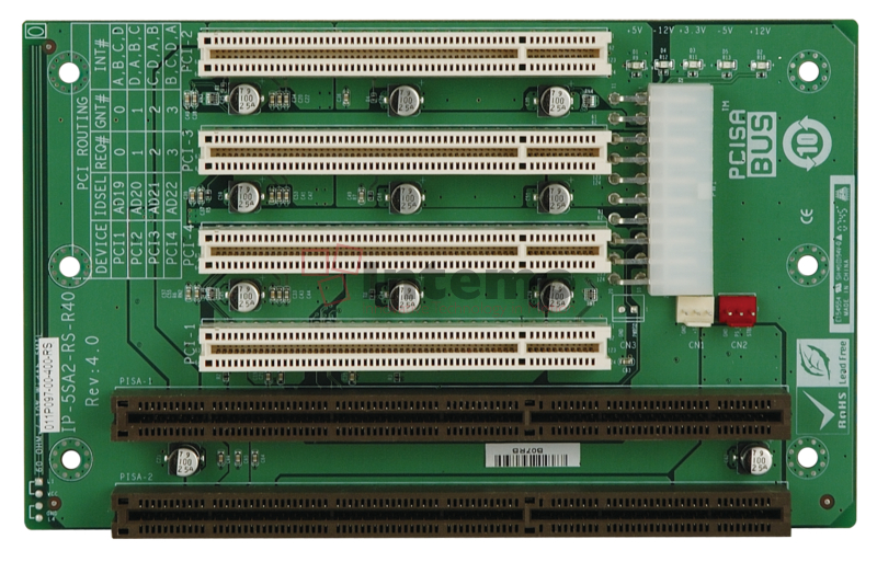 RoHS IEI PCISA 4-Slot 3PCI Passive Backplane 10pcs//Box